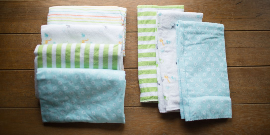Gerber flannel receiving blankets, Gerber flannel burp cloths, unisex, gender neutral