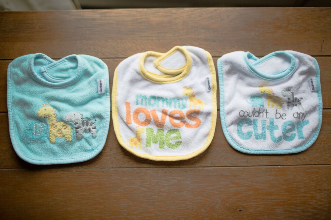 Gerber Newborn Baby Boy or Girl Unisex Assorted Terry Bibs, 3-Pack, Gender Neutral