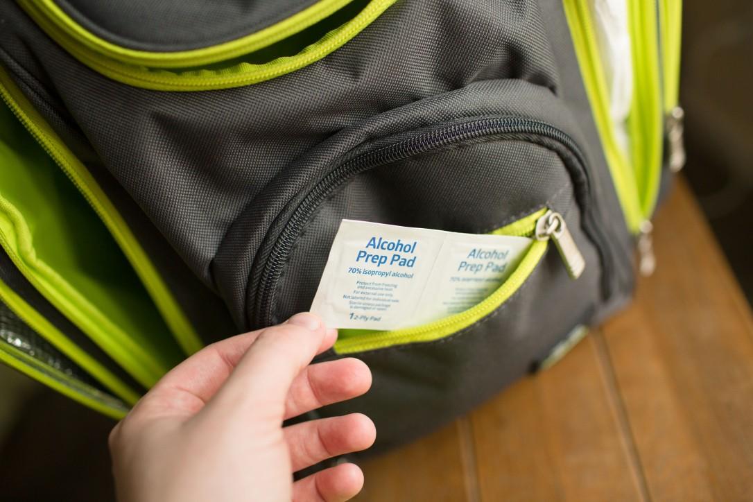 Equate Alcohol Prep Pad, Sterile, Backpack Diaper Bag, Gender Neutral