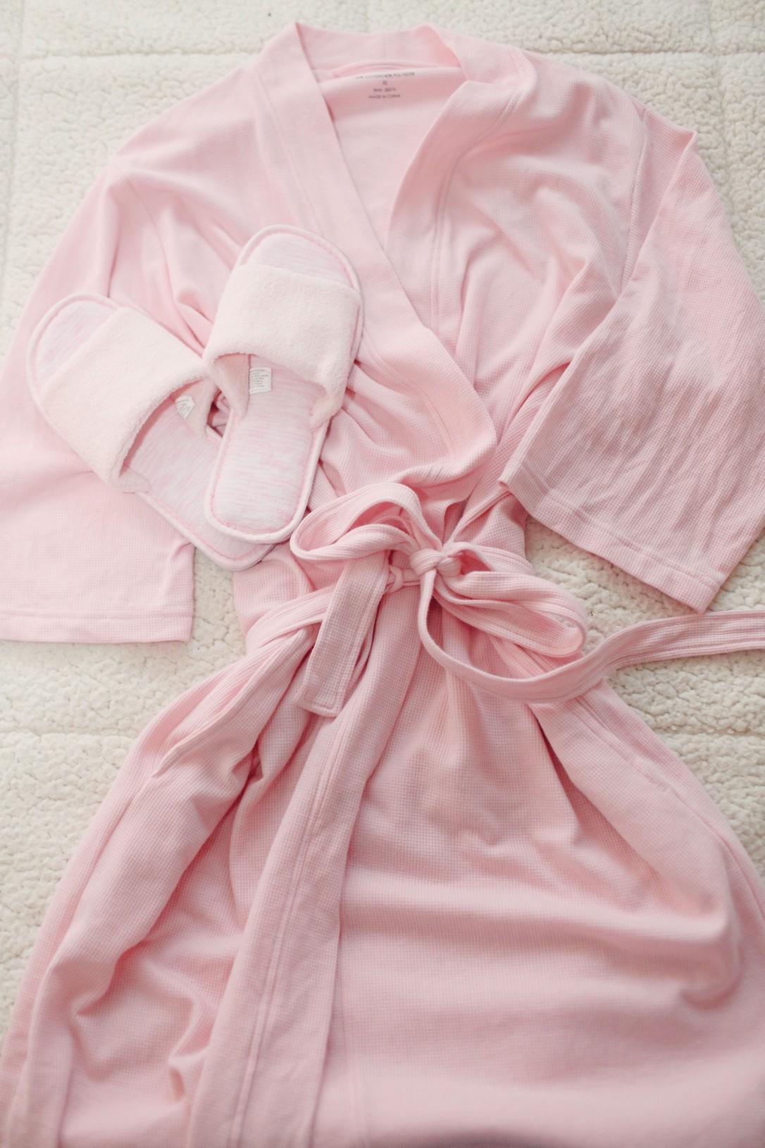 women's and women's plus light weight waffle sleep robe