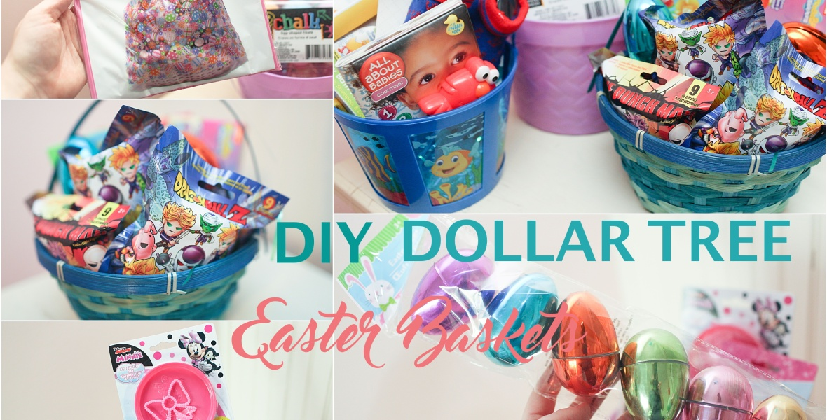 Little shop of holidays something unexpected diy dollar tree easter baskets gifts for the whole family negle Image collections