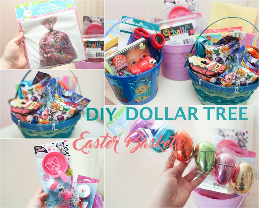 DIY Dollar Tree Easter Baskets