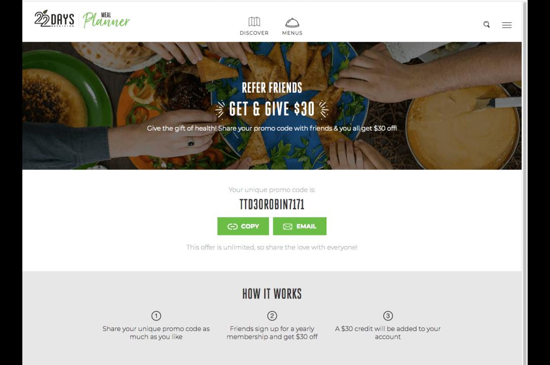 22 Days Revolution Meal Planner